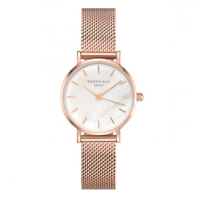 Rosefield The Small Edit White - Rose Gold