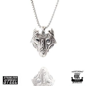 "Northern Viking Jewelry®-Riipus ""Guardian Wolf-Riipus"""